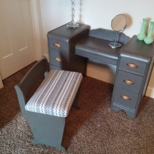 Refinished Art Deco Vanity